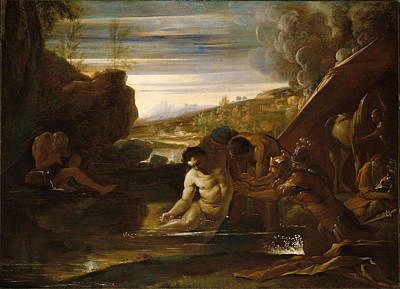 Alexander The Great Painting - Alexander The Great Rescued From The River Cydnus by Pietro Testa