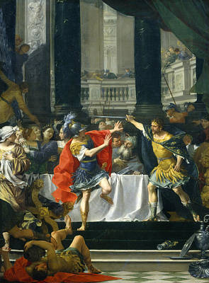 Donato Creti Painting - Alexander The Great Threatened By His Father by Donato Creti