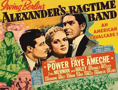 Ragtime Mixed Media - Alexander's Ragtime Band 1938 by Mountain Dreams
