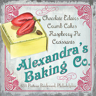 Food Stores Painting - Alexandra's Baking Company by Debbie DeWitt