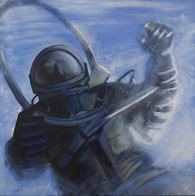 Astronauts Painting - Alexei Leonov by Simon Kregar