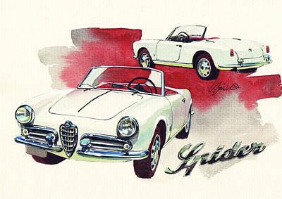 Romeo Painting - Alfa Romeo Giulietta Spider by Yoshiharu Miyakawa