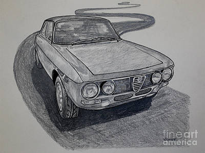 Collectible Mixed Media - Alfa Romeo Gtv  by Robert Yaeger