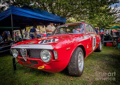 Sprinting Digital Art - Alfa Romeo Sprint Gt by Adrian Evans