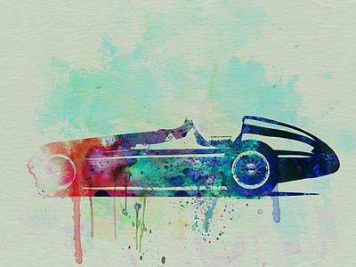 Old Car Drawing - Alfa Romeo Tipo Watercolor by Naxart Studio