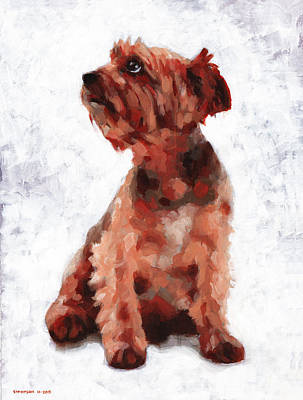 Pooch Painting - Alfie by Douglas Simonson