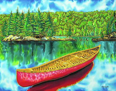 Algonquin Park - Red Canoe Original by Daniel Jean-Baptiste
