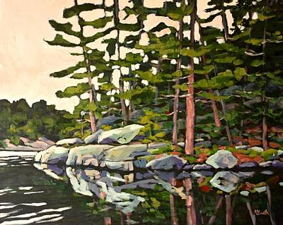 Sheild Painting - Algonquin Reflections by Mary Lynn Smith