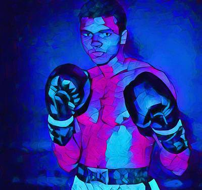 Boxer Mixed Media - Ali Graphic Abstract by Dan Sproul