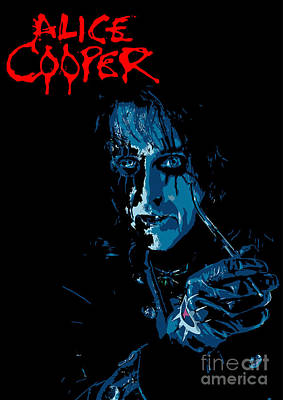 Illusttation Digital Art - Alice Cooper by Caio Caldas