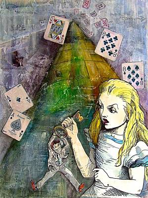 Financial Mixed Media - Alice In Bankland by Christine Rossi