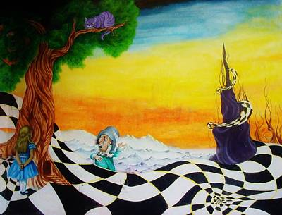 Mad Hatter Painting - Alice In Wonderland by Ben Christianson