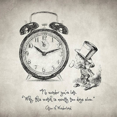 Philosophical Drawing - Alice In Wonderland Quote by Taylan Apukovska