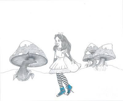 Alice Loves Her Chucks Print by Manon Zemanek