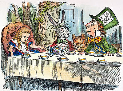 Alice In Wonderland Photograph - Alices Mad-tea Party, 1865 by Granger