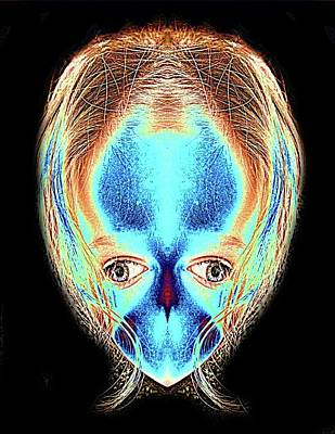 Alien Daughter Print by Tisha Beedle