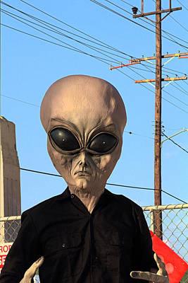 Alien Face At 6th Street Bridge Print by Viktor Savchenko