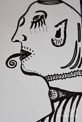 Terrestrial Drawing - Alien Lick by Lisa Kleiner