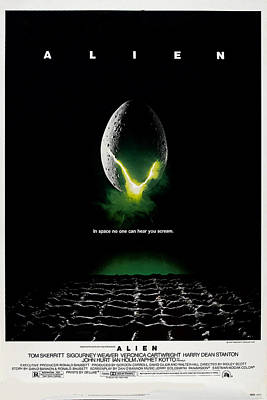 1970s Movies Photograph - Alien, Poster Art, 1979 by Everett