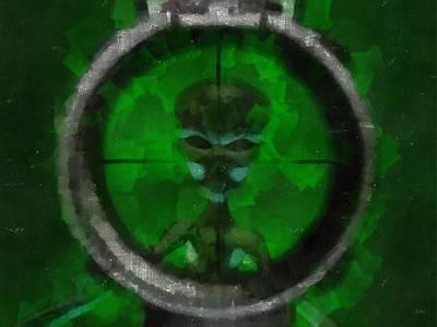 Strange Days Painting - Alien Target by Esoterica Art Agency