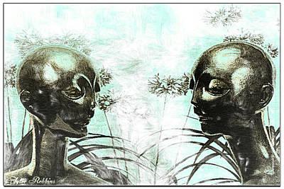 Aliens In My Garden Print by Tyler Robbins