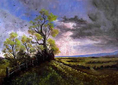 Thunder Painting - Alight by Gavin Kutil