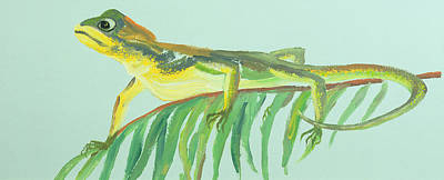 Gecko Painting - Alight by William Ireland