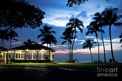 Alii Kahekili Nui Ahumanu Beach Park Hanakaoo Kaanapali Maui Hawaii Print by Sharon Mau