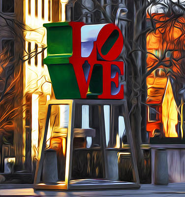 Love Park Digital Art - All About Love by Bill Cannon