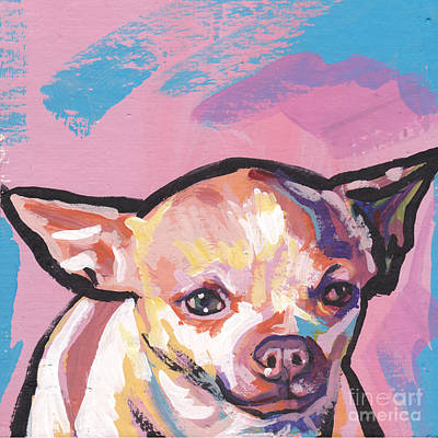 Chihuahua Dog Art Painting - All About The Chi by Lea S