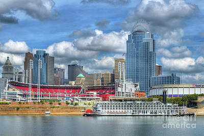 Ohio River Photograph - All American City by Mel Steinhauer