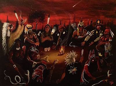 First Tribes Painting - All Chiefs by Nicholas Paul