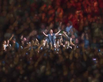 Pearl Jam Digital Art - All Hail Eddie Vedder by Toby McGuire