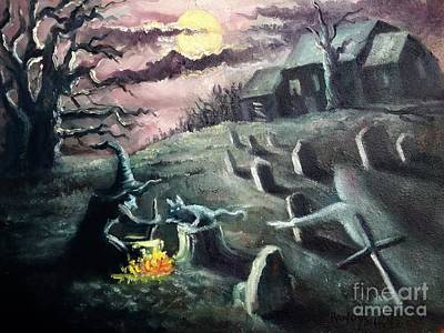 All Hallow's Eve Print by Randy Burns