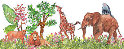 Cedar Park Painting - All Is Well In The Jungle by Kathleen McElwaine