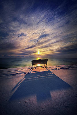 All Shadows Chase Swift Print by Phil Koch