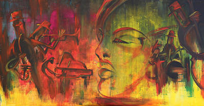 Coman Painting - All That Jazz by Florin Coman