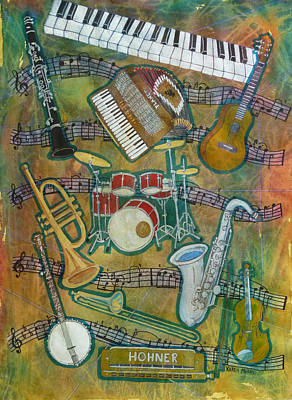 Trumpet Painting - All That Jazz by Karen Merry