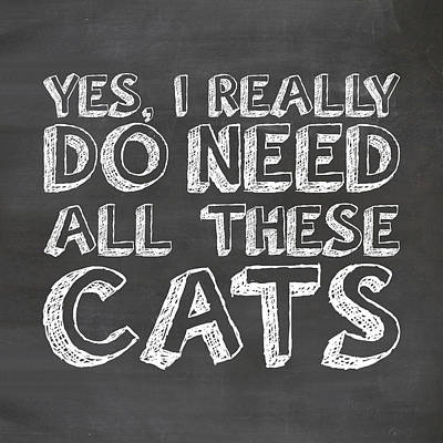 All These Cats Print by Nancy Ingersoll