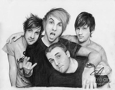 Markle Drawing - All Time Low by Rosalinda Markle