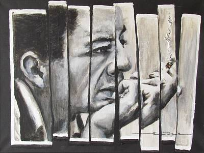 Johnny Cash Drawing - All Together Johnny Cash by Eric Dee