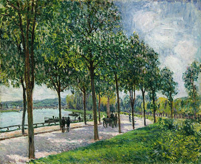 Architectural Painting - Allee Of Chestnut Trees by Alfred Sisley