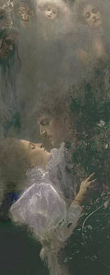 Ghostly Painting - Allegory Of Love by Gustav Klimt