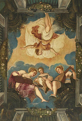 Tintoretto Painting - Allegory Of Music by Tintoretto