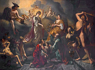 Painting - Allegory Of Peace And Prosperity by Matthijs Naiveu