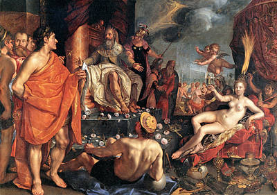 Hendrik Goltzius Painting - Allegory Of The Arts by Hendrik Goltzius