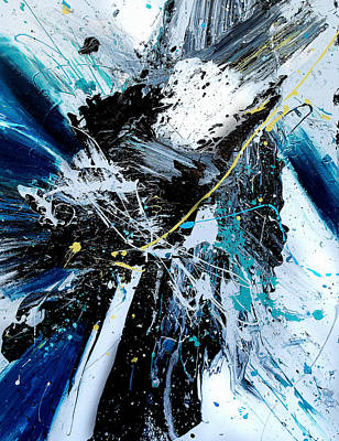 Abstract Movement Mixed Media - Allegra by Roya Gharavi