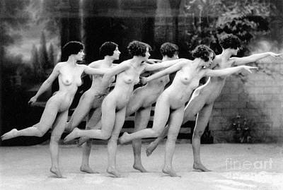 Photograph - Allen: Chorus Line, 1920 by Granger