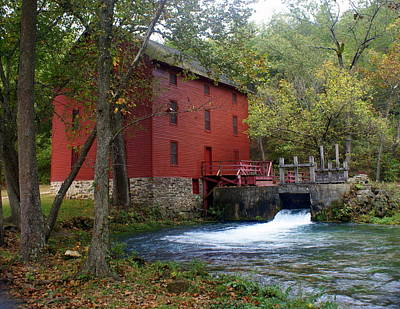 Ozarks Photograph - Alley Sprng Mill 3 by Marty Koch