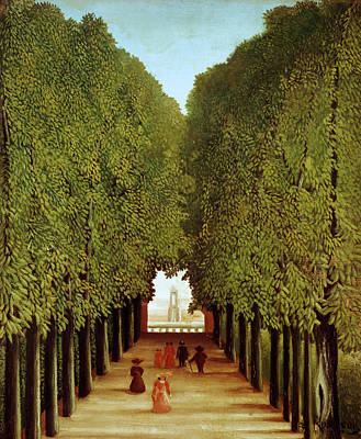 Park Oil Painting - Alleyway In The Park by Henri Rousseau